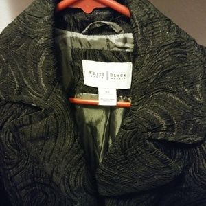 WHBM Womens Jacquard Brocade Mid-Length Jacket
